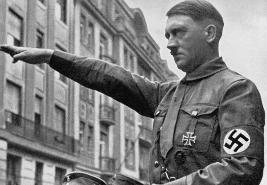 Hitler with swastika